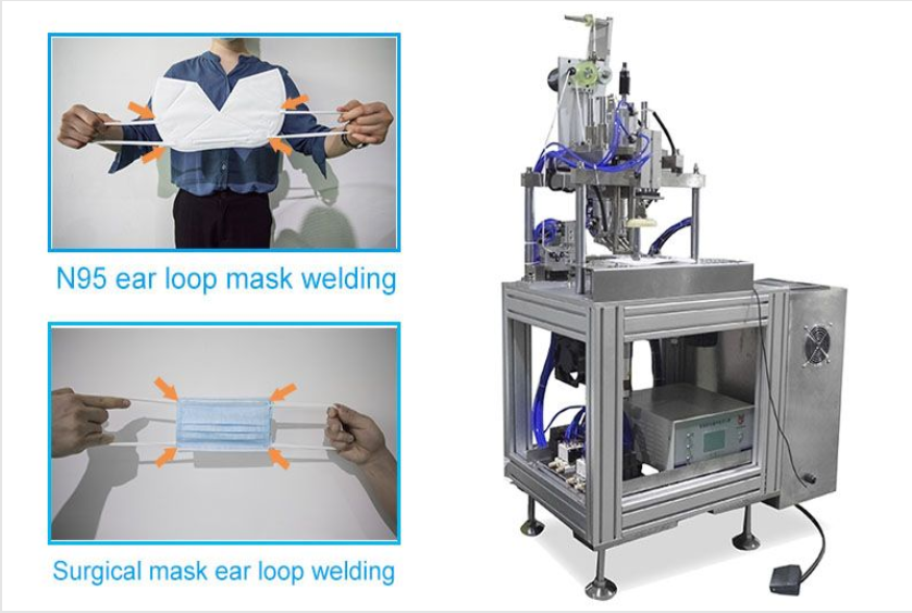 Manual Ear Loop Welding Machine- N95 & 3 Ply Mask Auto Rotation